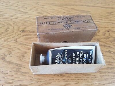 Garrard Main Spindle Lubricant - Model Garrard 301