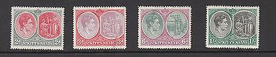 ST KITTS&NEVIS GV1  STAMPS  UNUSED VALUES TO 1/-   .Rfno.800.