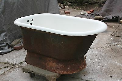 antique small tub bathtub 4ft | standard vtg victorian bathroom iron bathtub