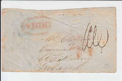 India 1854 A Nice Early Interesting Envelope From Jullunder To Ireland SG?
