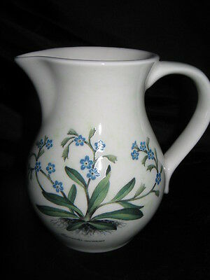 Vintage Holkham Pottery jug forget me not flower decoration Perfect FREE UK P&P