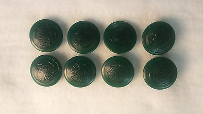 8 Dark Green Vintage GIRL SCOUT UNIFORM BUTTONS + Extra!!