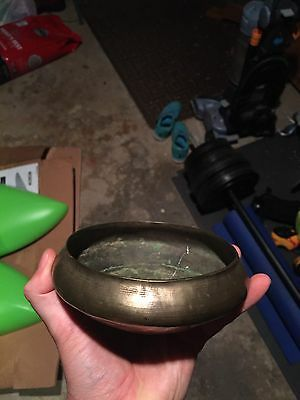 Vintage Handmade Brass Bowl Cup Chalice Coin Dish
