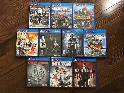 LOT OF 10 PS4 GAMES New & Used