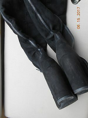 Woman's Black Suede  Over The Knee Boots Size Euro 40