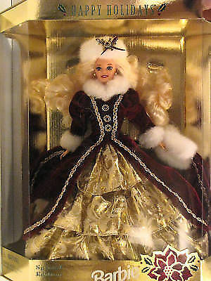 Happy Holidays Barbie Doll 1996 Collectible Special Edition Mattel 15646