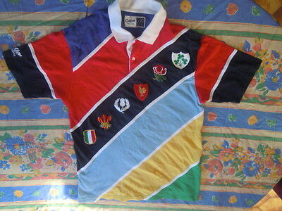 """rugby tres beau maillot """"six nations""""rare collection"""