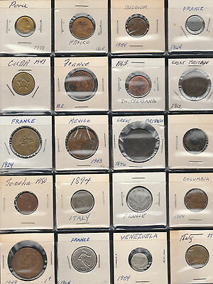 Lot of 20 Older World Foreign Coin Collection