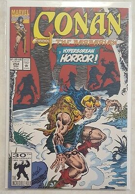 CONAN THE BARBARIAN #254 MARVEL COMIC w BAG & BOARD HYPERBOREAN HORROR