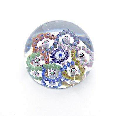 Very Fine Antique Baccarat Interlocking Trefoils Paperweight