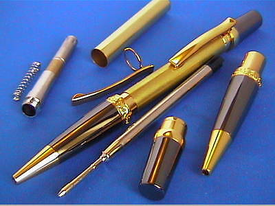 Woodturning Pen Kits - SIERRA ELEGANCE - Gold/Chrome/Satin Chrome etc