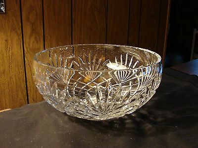 """Waterford Crystal ARTISAN 9"""" Bowl - MINT - Signed by Artist - TOM POWER"""
