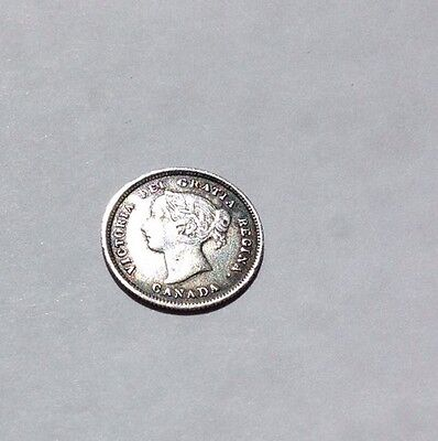 Canada  silver 5 cents 1872.  In reasonable condition