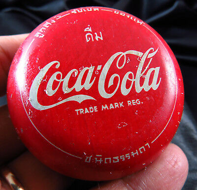 Genuine New Old Stock  Coca Cola Tin Yo Yo Free Shipping