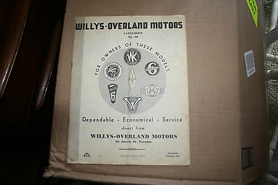 Willeys-Overland Motors Catalogue No.39 91 Jarvis ST Toronto
