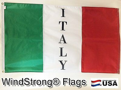 3x5 FT Italy Italian Logo Party WindStrong® Flag Fully Sewn Stripes Deluxe Flag