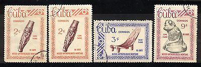 1963 1CUBA COMPLETE SET OF 3+1 USED STAMPS (Michel # 849-851)