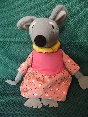 """large  Bagpuss Lizzie Singing Mouse Soft Plush Toy 12"""" approx"""