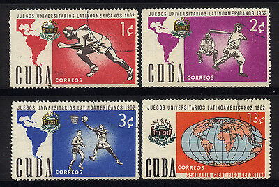 1962 1CUBA COMPLETE SET OF 4 USED STAMPS (Michel # 813-816)