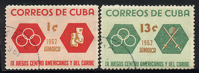 1962 1CUBA SET OF 2 USED STAMPS (Michel # 807,810)