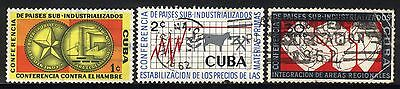 1961 1CUBA SET OF 3 USED STAMPS (Michel # 696,697,701)