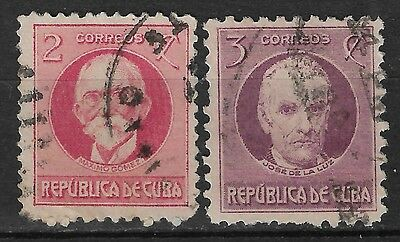 1917 1CUBA SET OF 2 USED STAMPS (Michel # 40,41)