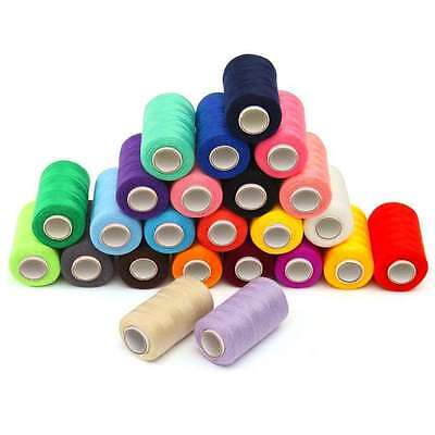 1000 Yards Mixed/Assorted Polyester Threads -Pack Of 10/25 & 50