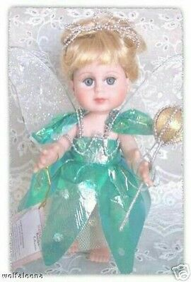 "BRAND NEW Box Lot 6 Vinyl Dolls Fairy Angel 8"" free stand blonde blue eyes wings"