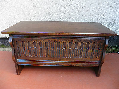 Oak Blanket Box, Storage Chest, Coffer, Coffee Table Quality Item, Clean & Tidy.