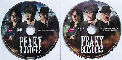 Peaky Blinders First Season Series 1 One Region 1 2-Disc Dvd Only No Case Bbc