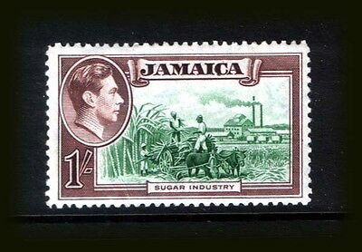 JAMAICA 1938  :  KGVI definitive 1/- brown & green MNH** -  SG.130 - CV £14