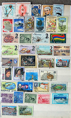 A Useful Collection of Different Used Mauritius Stamps, Good Cat Value.