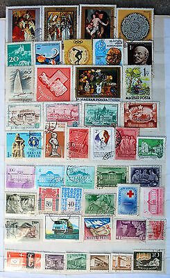 Fine Collection of Different Used Hungarian Stamps.
