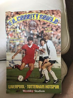 1982 F.A.Charity Shield.Liverpool v Tottenham H.