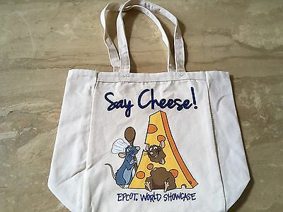 Disney Ratatouille Say Cheese Epcot Tote Authentic