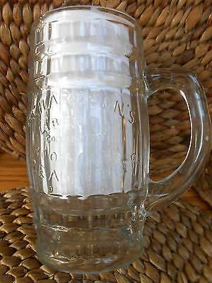 Decent RICHARDSON'S Liberty Root Beer, Creamy Beer, Clear Glass Barrel Mug - USA