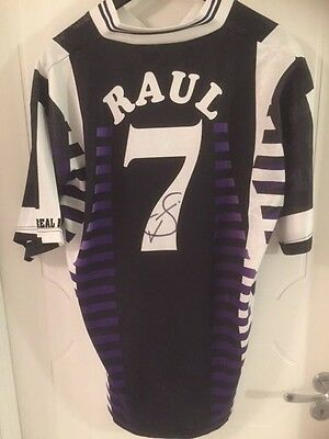 Signed Raul Real Madrid autographed jersey shirt
