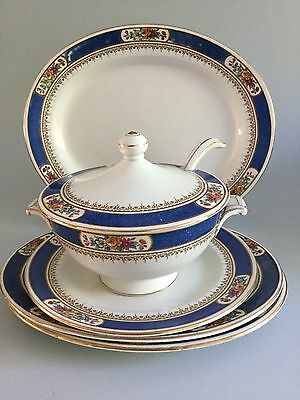 Vintage Royal Cauldon Small Soup Tureen with Ladle & Oval Dishes