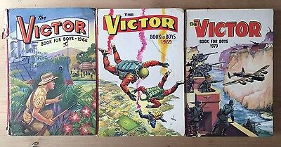 Victor Book For Boys Annuals 1966, 1969, 1970