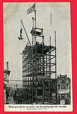 1908 Used Postcard Knoxville Tennessee Maud up in the air,  Skyscraper