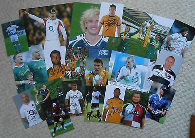 Various Rugby Union Signed Photos x 20. Joblot. Steenkamp,Tait,Chisholm,Lund etc