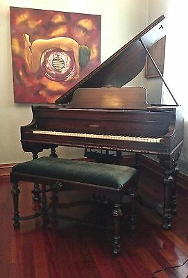 Antique Beautiful Baby Grand Piano Kranich and Bach  w/bench