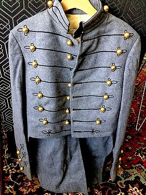 c. 1890 Orig. WEST POINT MILITARY ACADEMY TUNIC - excond. PLEBE GILT BULLET BUTN