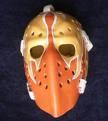 Vintage Bernie Parent Wha Philadelphia Blazers Fiberglass Nhl Hockey Goalie Mask