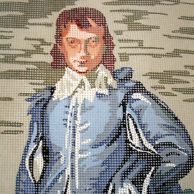The Blue Boy Needlepoint Cloth Made in Denmark