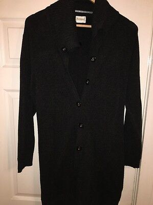 Ladies Size Medium Roman Originals Long Length Cardigan In Dark Grey Colour