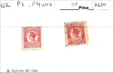 New Zealand Scott P3 Mint, P4 Used Low Combined Shipping
