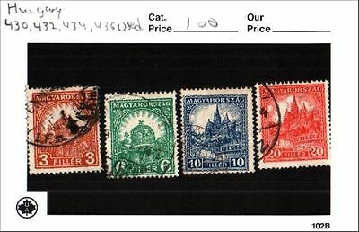 Hungary stamp lot Scott 430, 432, 434, 436 Used Low Combined Shipping