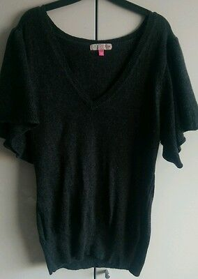 ladies Miso dark grey Jumper size 12.