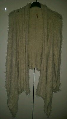 New! ladies cream waterfall wrap cardigan. Lovely and soft, size M/L